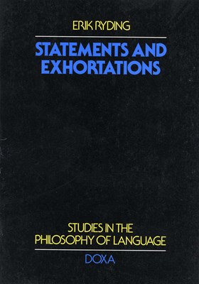 Statements and exhortations Erik Ryding 9789157800503